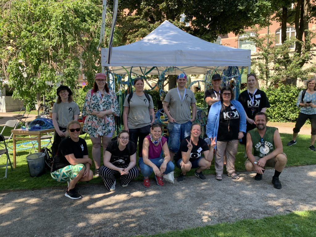 Gruppfoto på alla som jobbade med workshopen