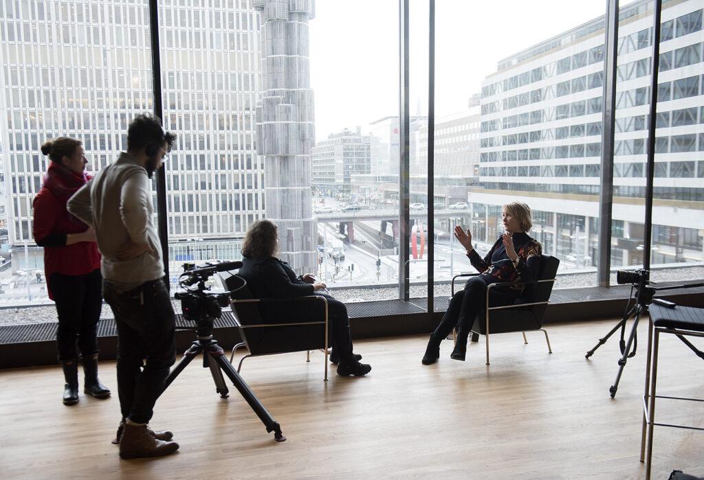 Intervjubild med Hanna Björklund och Linda Beijer