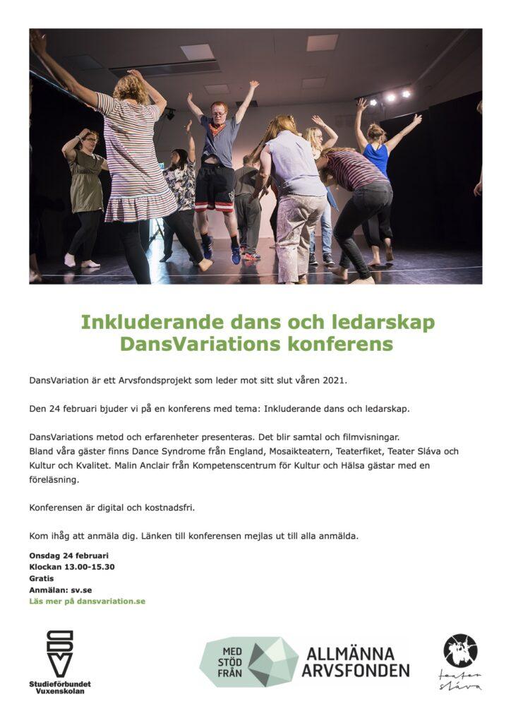 En bild på inbjudan till konferensen. Informationen i sin helhet finns på Dansvariations hemsida.