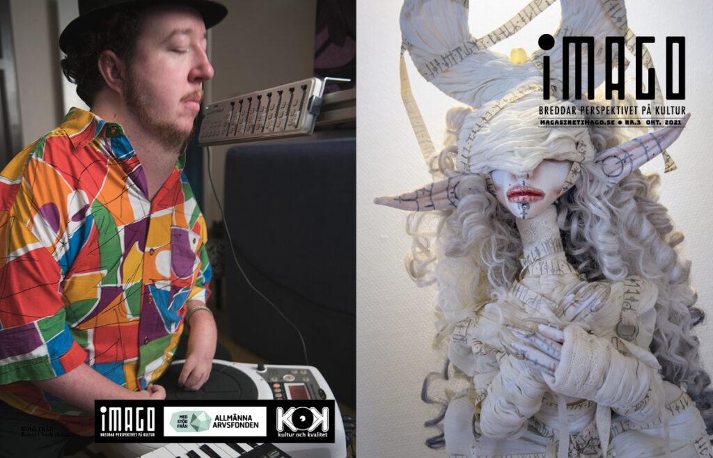 Omslaget till iMAGO 3 har DJ Arthro på baksidan och den mystiska dockan Eliv på framsidan.